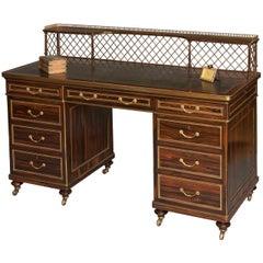 English 19th Century Coromandel and Gilt Brass Writing Desk