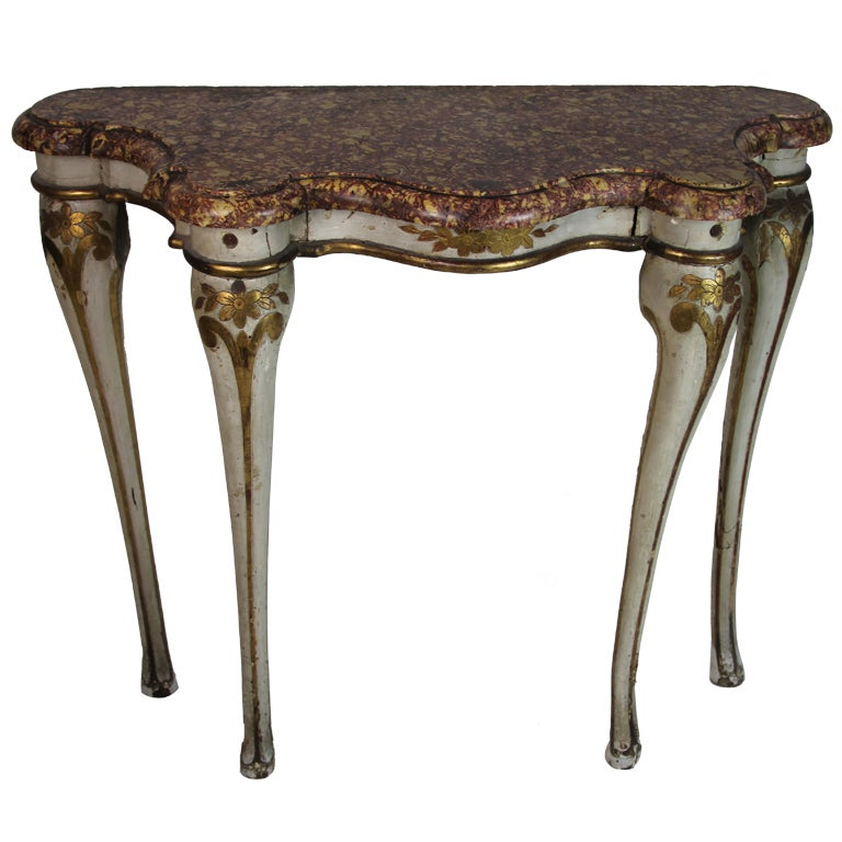 Polychromed rococo spanish console at 1stdibs for Spanish baroque furniture