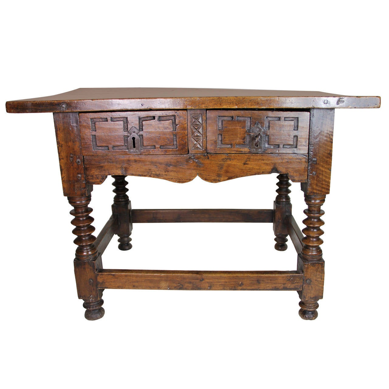 Baroque spanish table at 1stdibs for Spanish baroque furniture