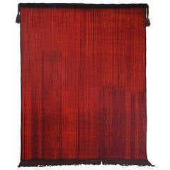 Contemporary Painterly Red Tuareg Moroccan Rug