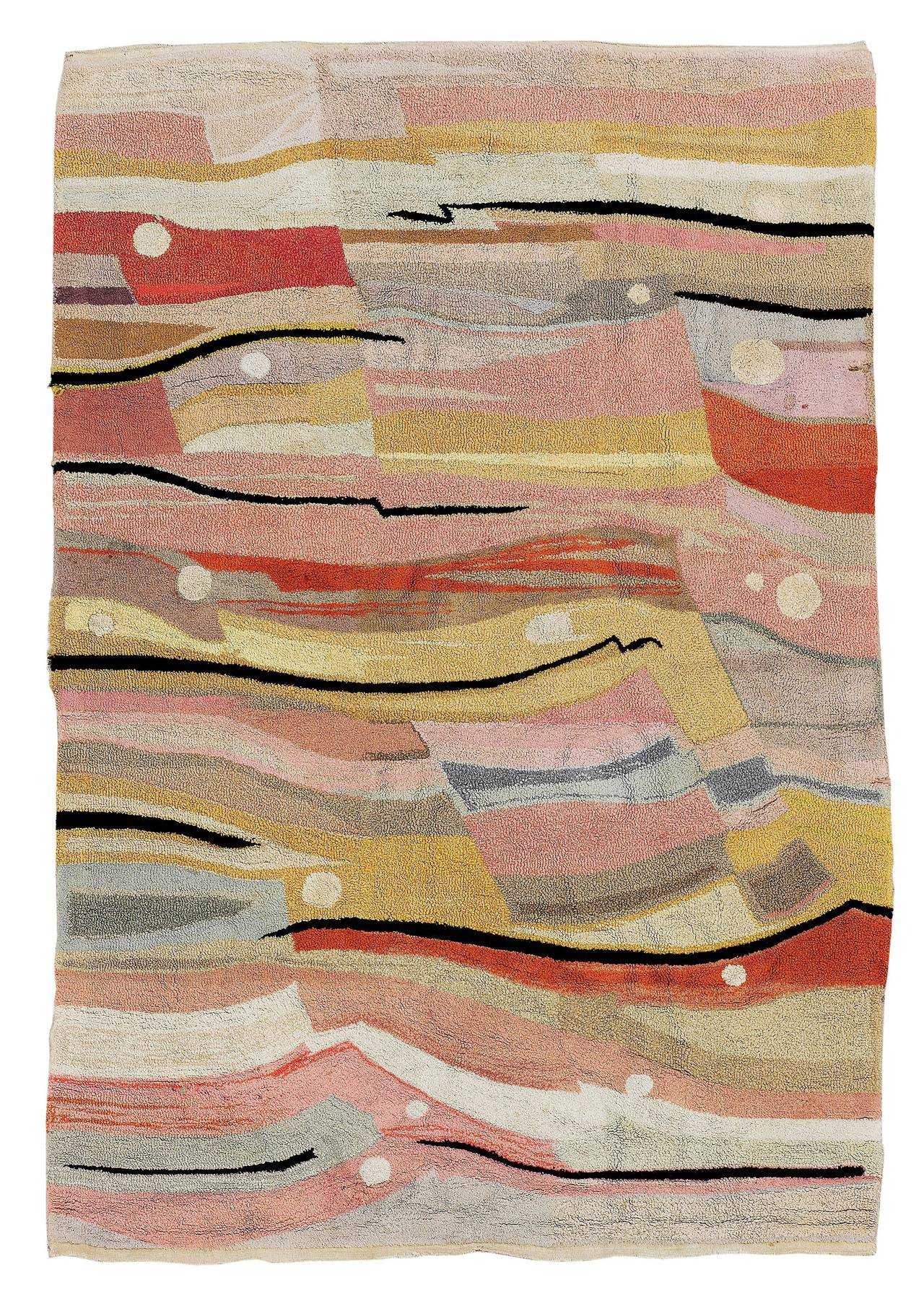 Modernist Bauhaus German Rug At 1stdibs