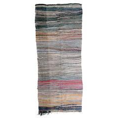 Vintage Berber Boucherouite Kilim Rug