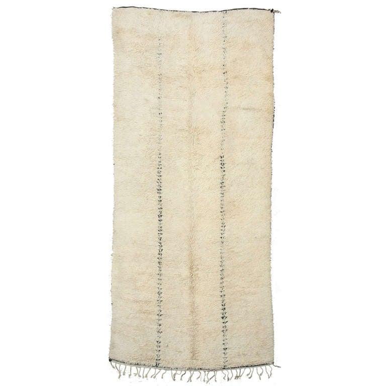Mid-Century Modern Beni Ouarain Wool Berber Rug