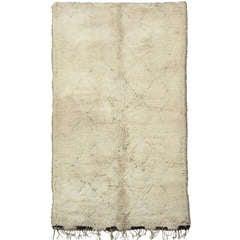 Rare and Unusual Mid-Century Modern Beni Ouarain Wool Berber Rug