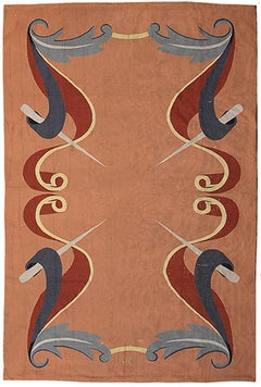 French Aubusson Wool Rug After Andre Arbus, 1940's