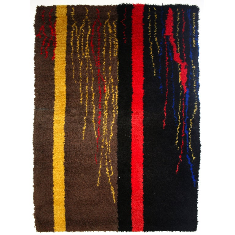 Mid-Century Modern French Wool Rug