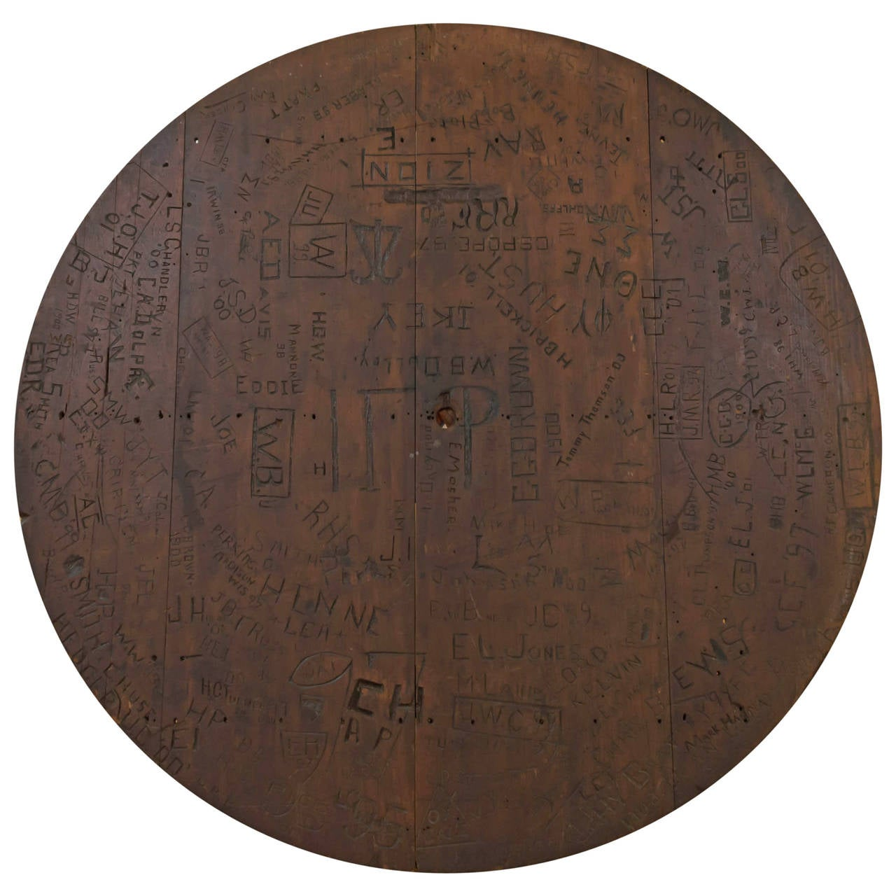 Superieur 1800s Stanford University Student Names Carved In Charlie Meyers Bar Table  Top For Sale