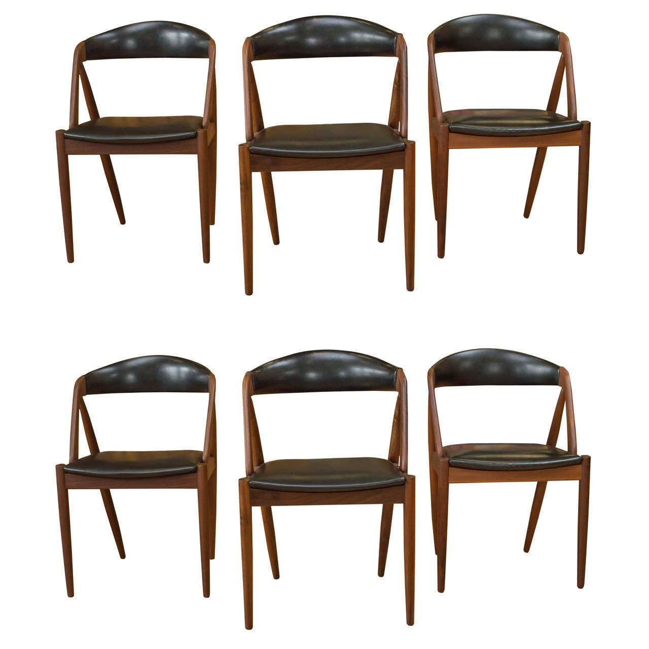 Six kai kristiansen teak chairs at 1stdibs - Kai kristiansen chairs ...