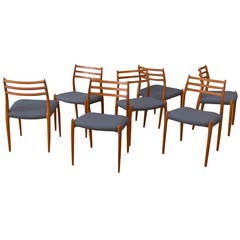 Seven Niels Moller Teak Dining Chairs #78