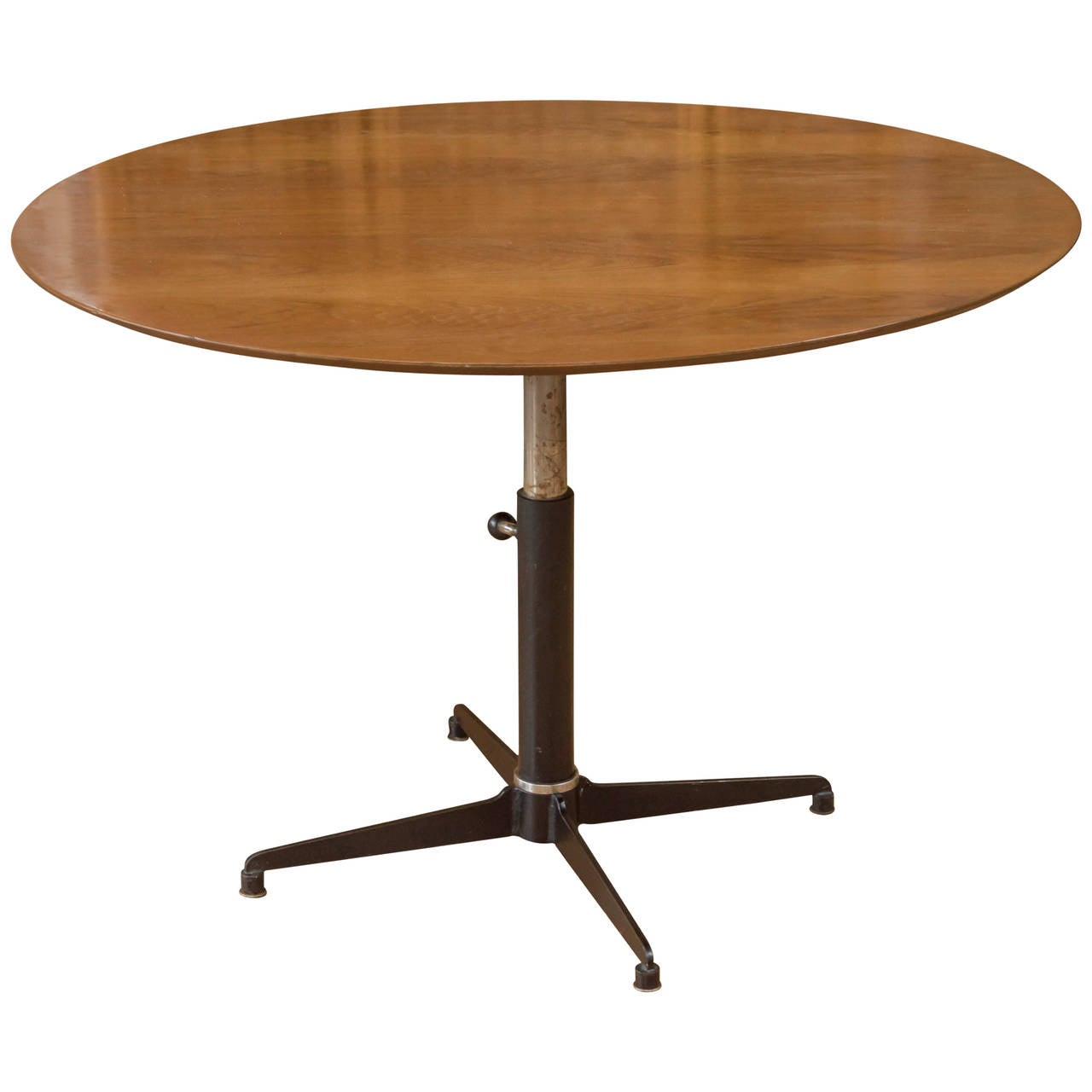 Round Coffee Table With Adjustable Height: Danish Teak Adjustable Height Cocktail Table At 1stdibs