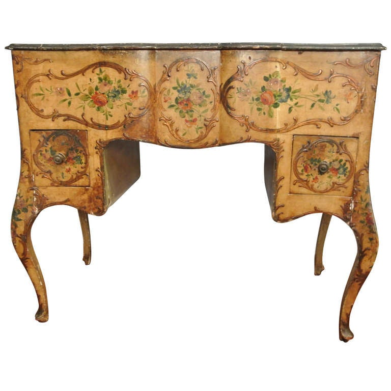 Venetian Roccoco Style Painted Wood Vanity At 1stdibs