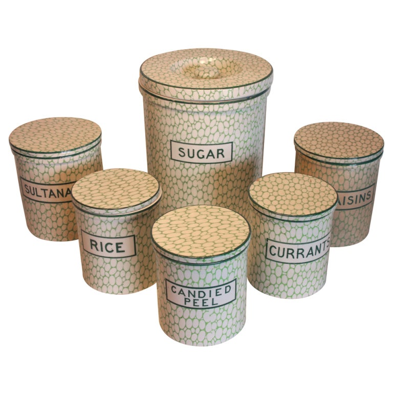 Cobble Stone By Maling Canister Set Saturday Sale At 1stdibs
