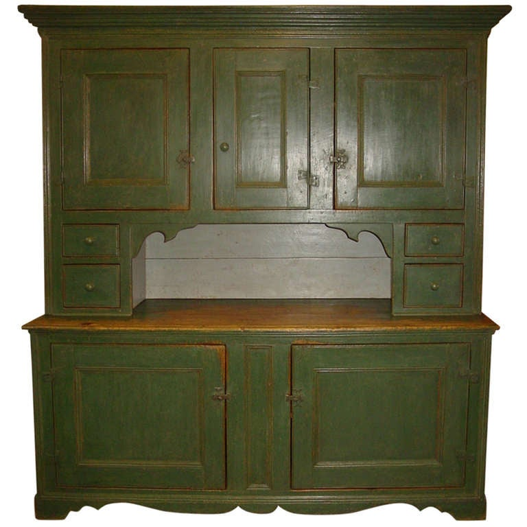 French Canadian Setback Cupboard At 1stdibs
