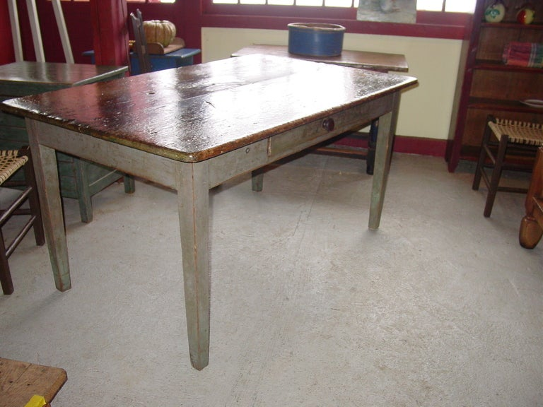 French Canadian Farm Kitchen Table For Sale At 1stdibs