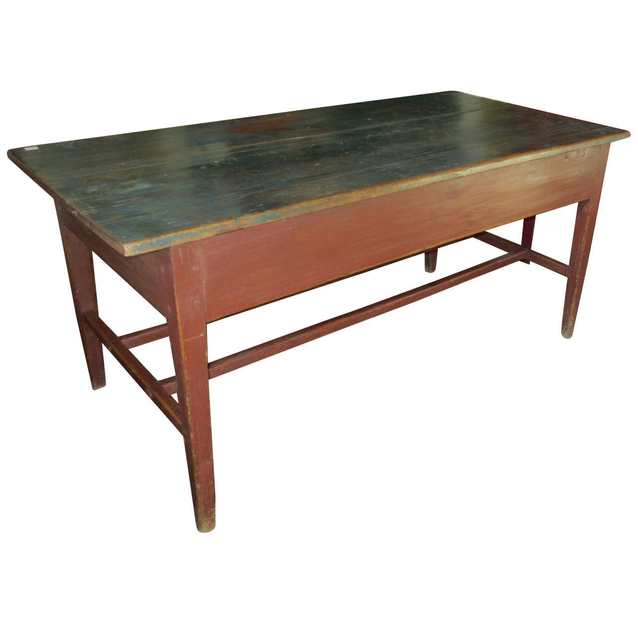 Early farm work table from quebec at 1stdibs for Furniture work table