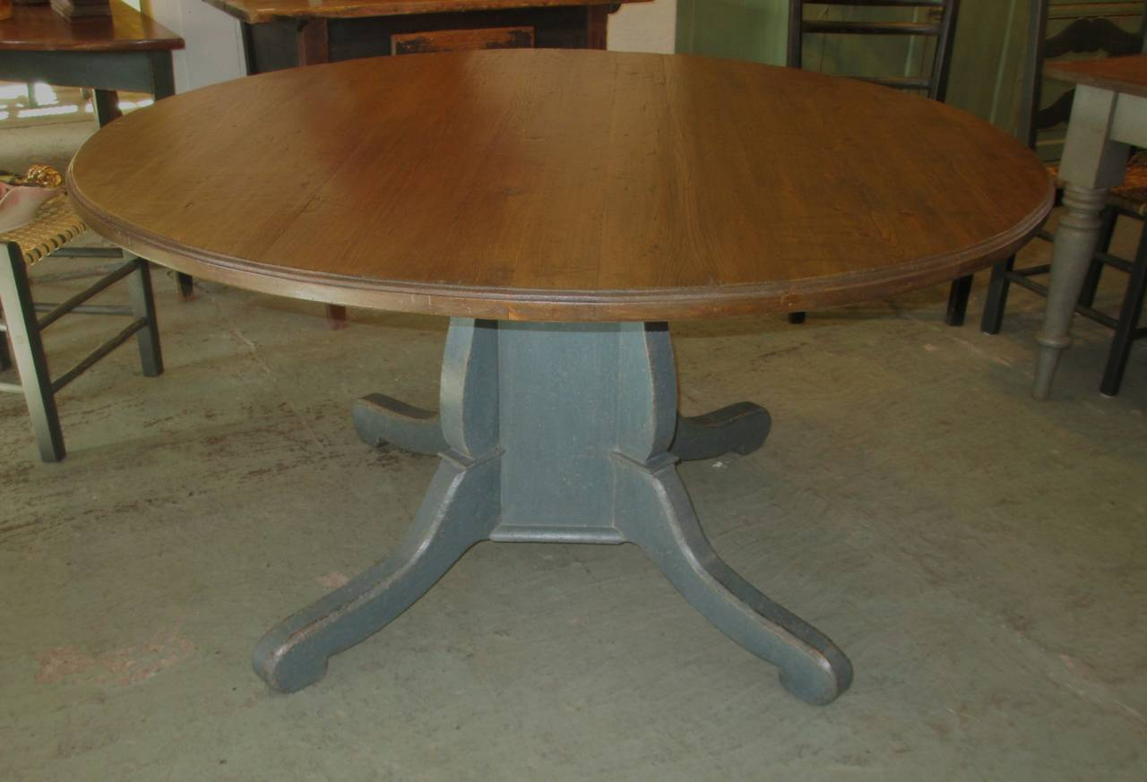 Round pedestal dining table from quebec at stdibs