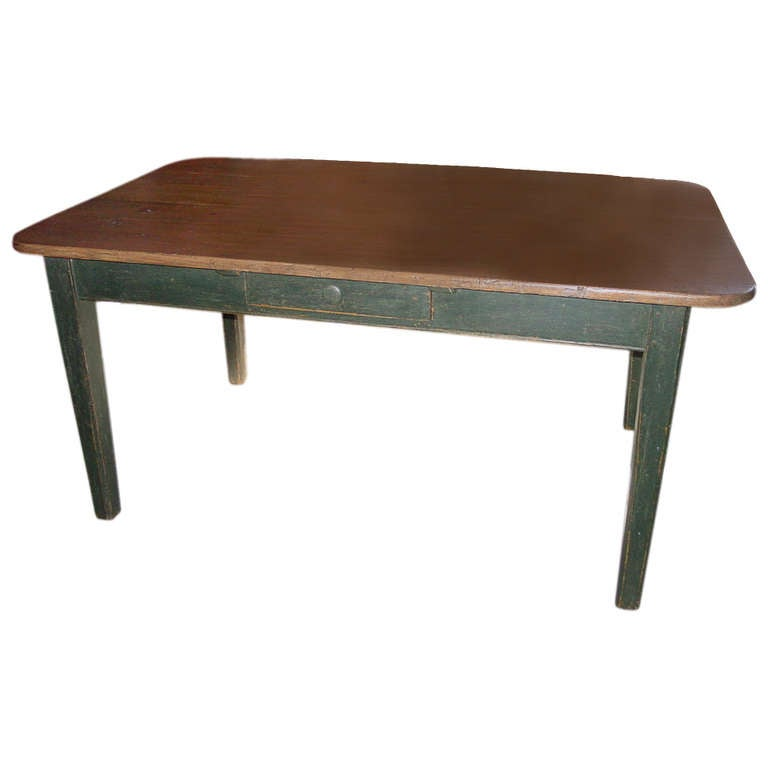 French Canadian Kitchen Farm Table at 1stdibs