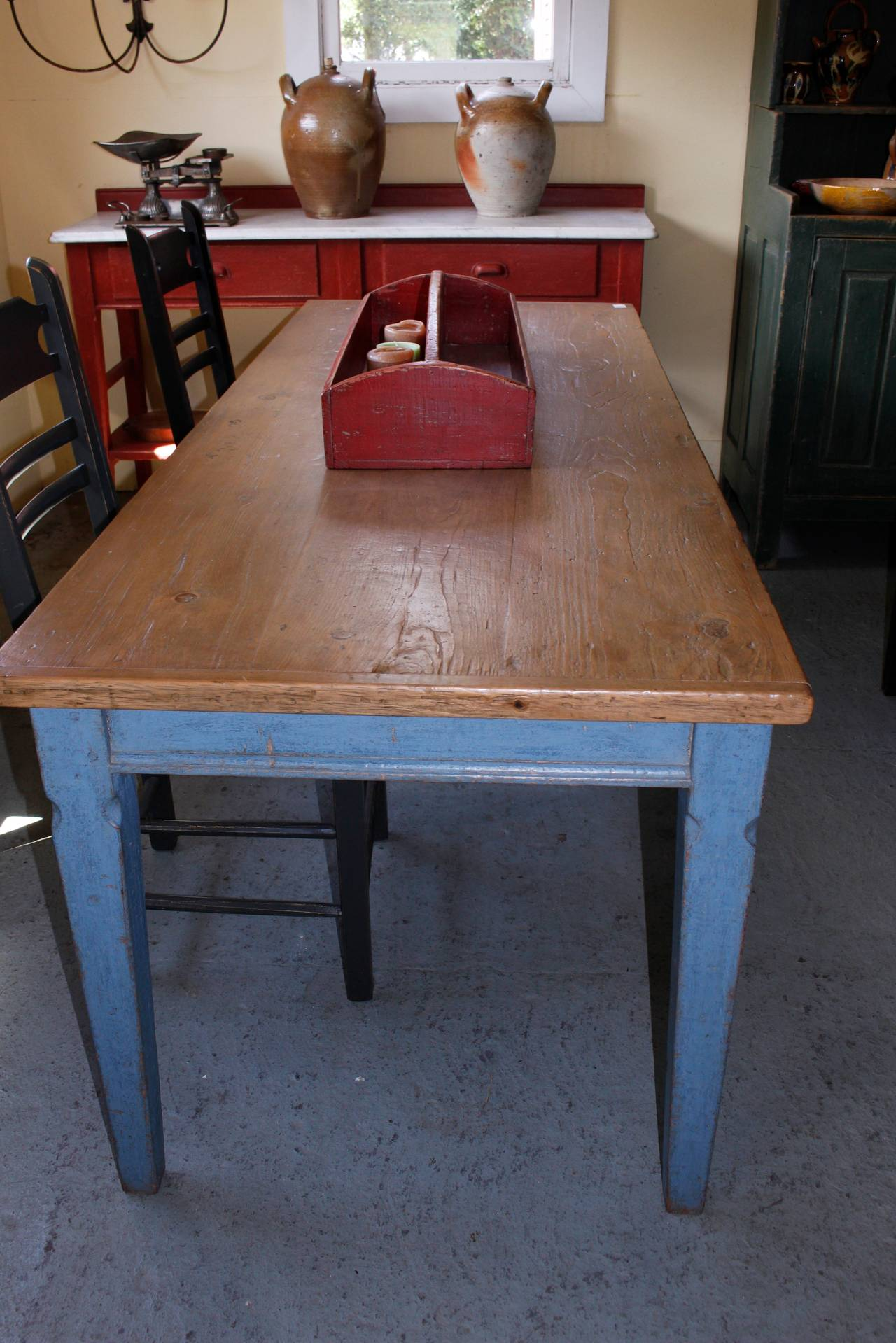 Typical farm table from quebec at stdibs