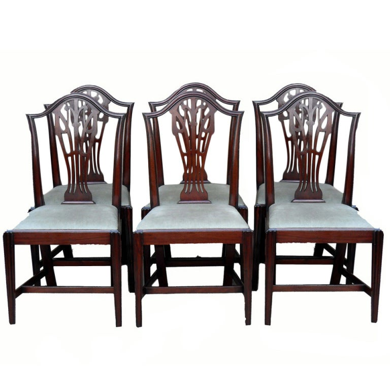 Antique Mahogany Dining Room Furniture: Antique Set Of Six Mahogany Dining Chairs At 1stdibs