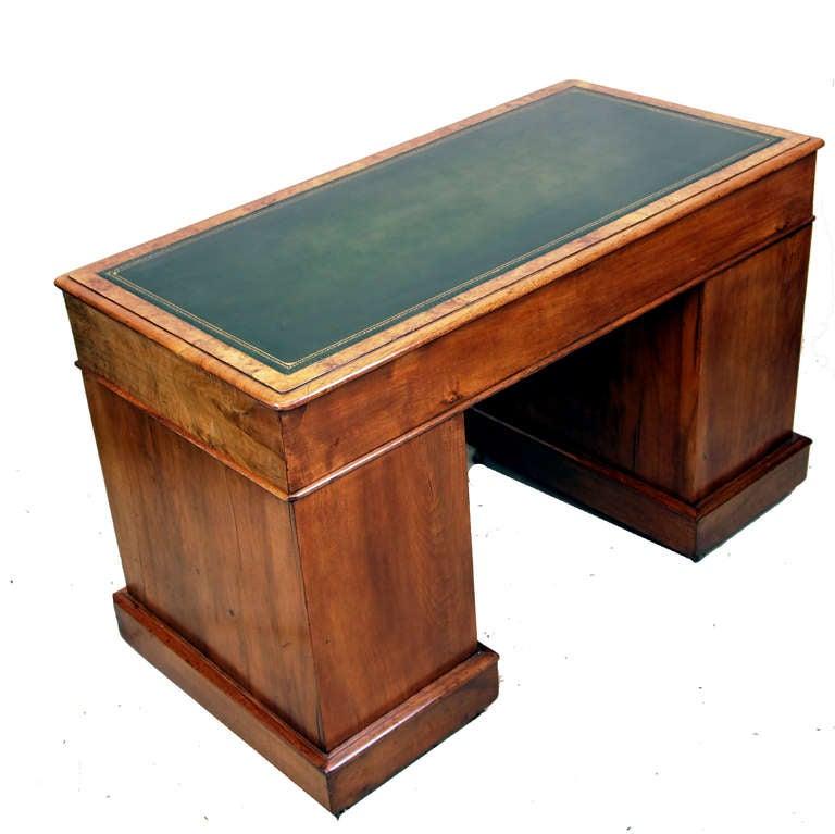 Antique Victorian Walnut Pedestal Desk At 1stdibs