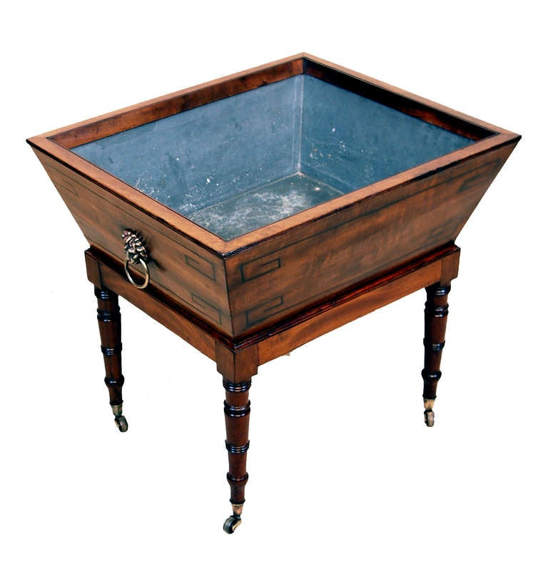 Antique Regency Mahogany Open Wine Cooler For Sale at 1stdibs