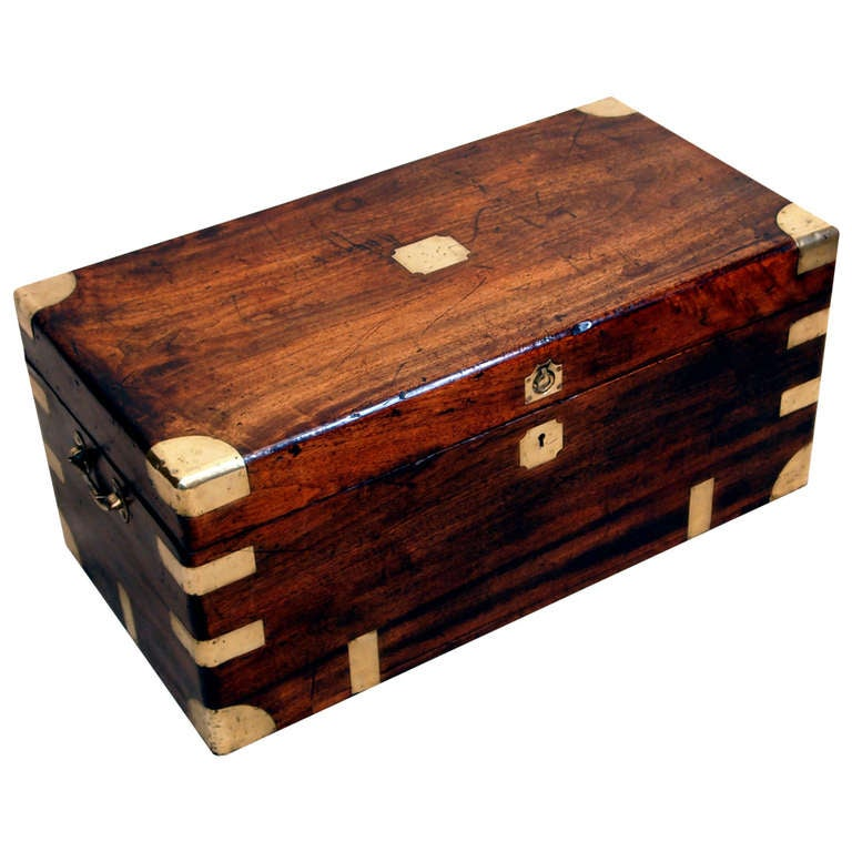 Antique Camphor Military Campaign Trunk at 1stdibs