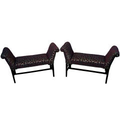 Antique Mahogany Pair of Window Seats