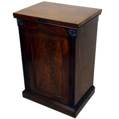 Antique Georgian Mahogany Pedestal Cupboard