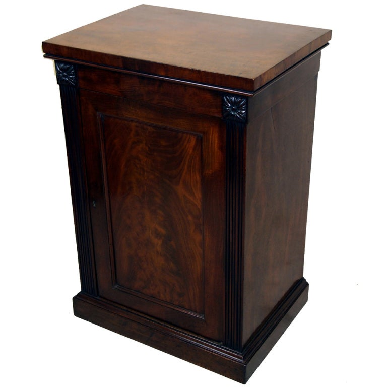 Antique Georgian Mahogany Pedestal Cupboard For Sale