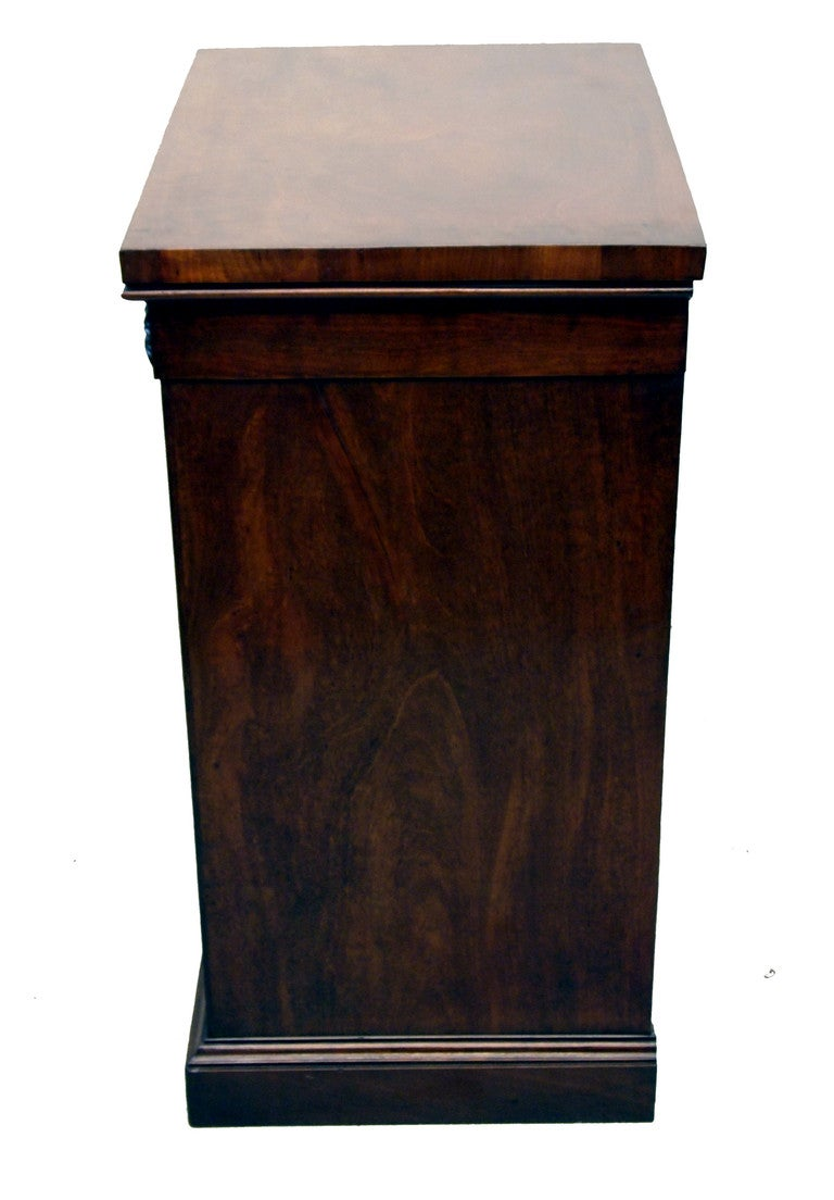 English Antique Georgian Mahogany Pedestal Cupboard For Sale