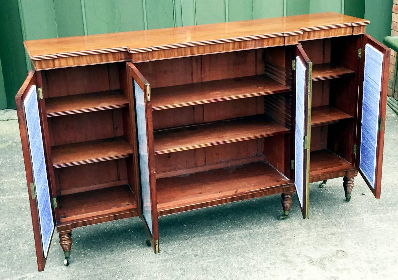 Antique Regency Mahogany Breakfront Side Cabinet At 1stdibs