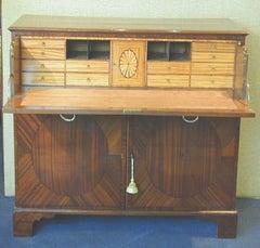 Antique Regency Mahogany Secretaire Cupboard