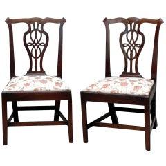 Antique Georgian Mahogany Pair of Chairs