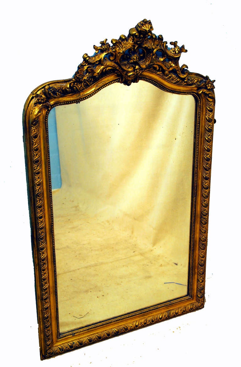 Antique french gilt mirror at 1stdibs for Antique french mirror