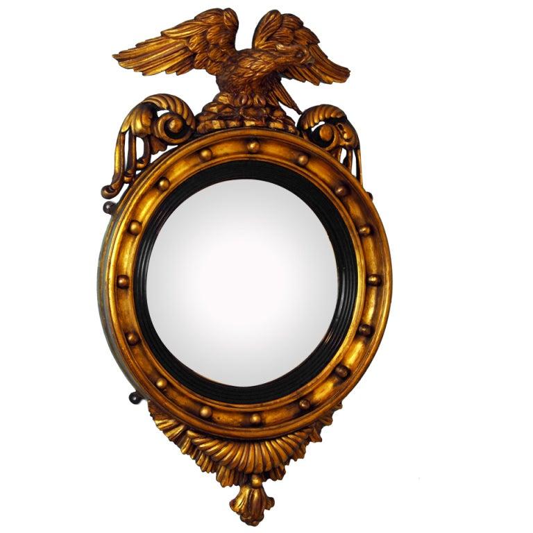 Antique Gilt Convex Mirror At 1stdibs
