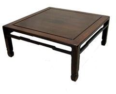 Oriental Hardwood Square Coffee Table