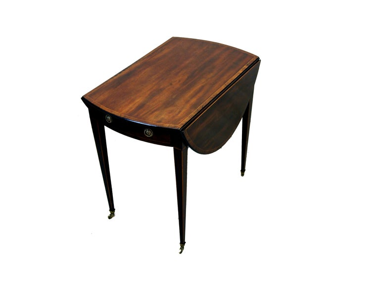 Antique Mahogany Oval Pembroke Table