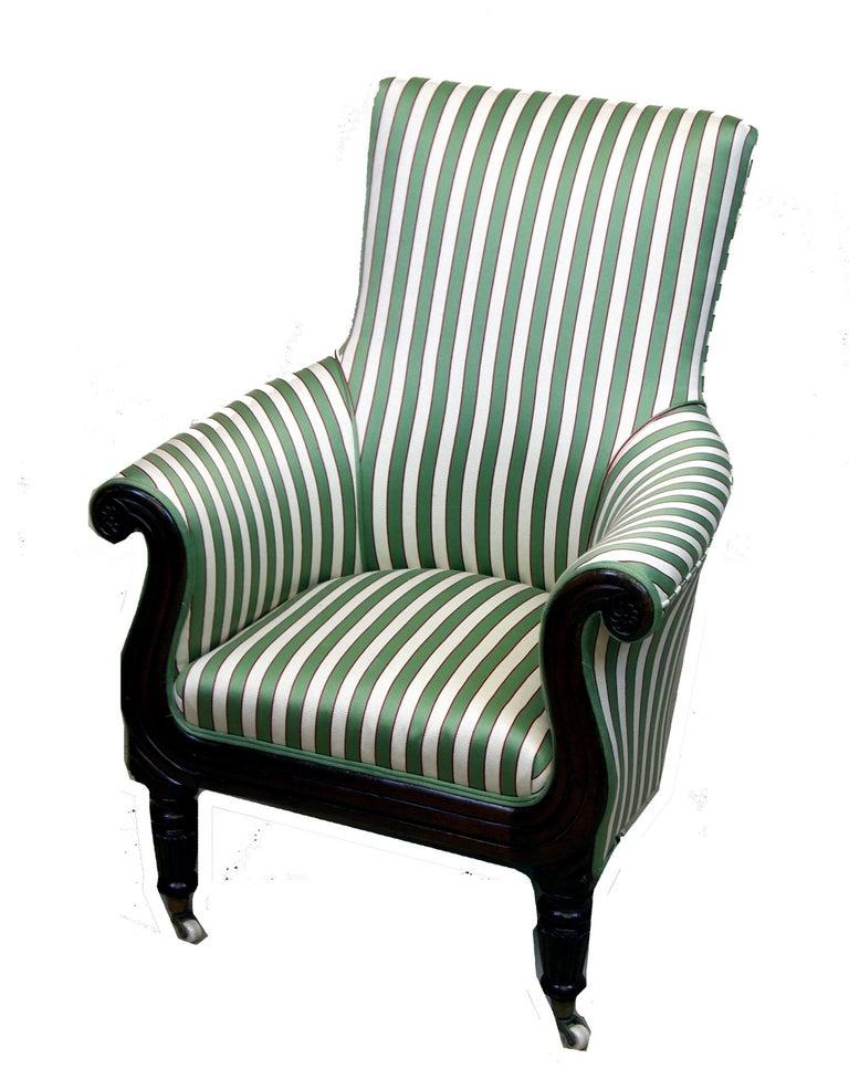 English Regency Mahogany Tub Library Chair