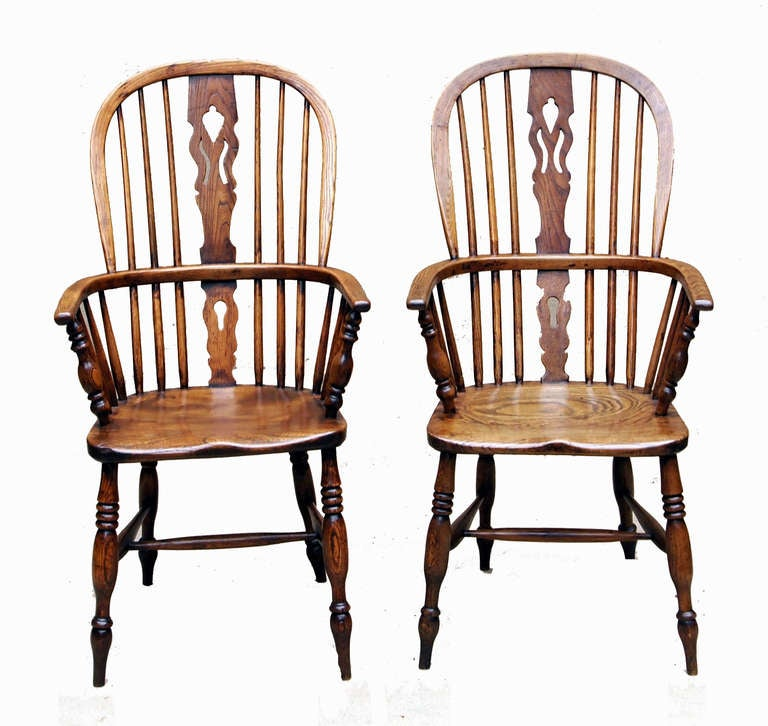 Antique Set of Eight Ash and Elm Windsor Chairs 3 - Antique Set Of Eight Ash And Elm Windsor Chairs At 1stdibs