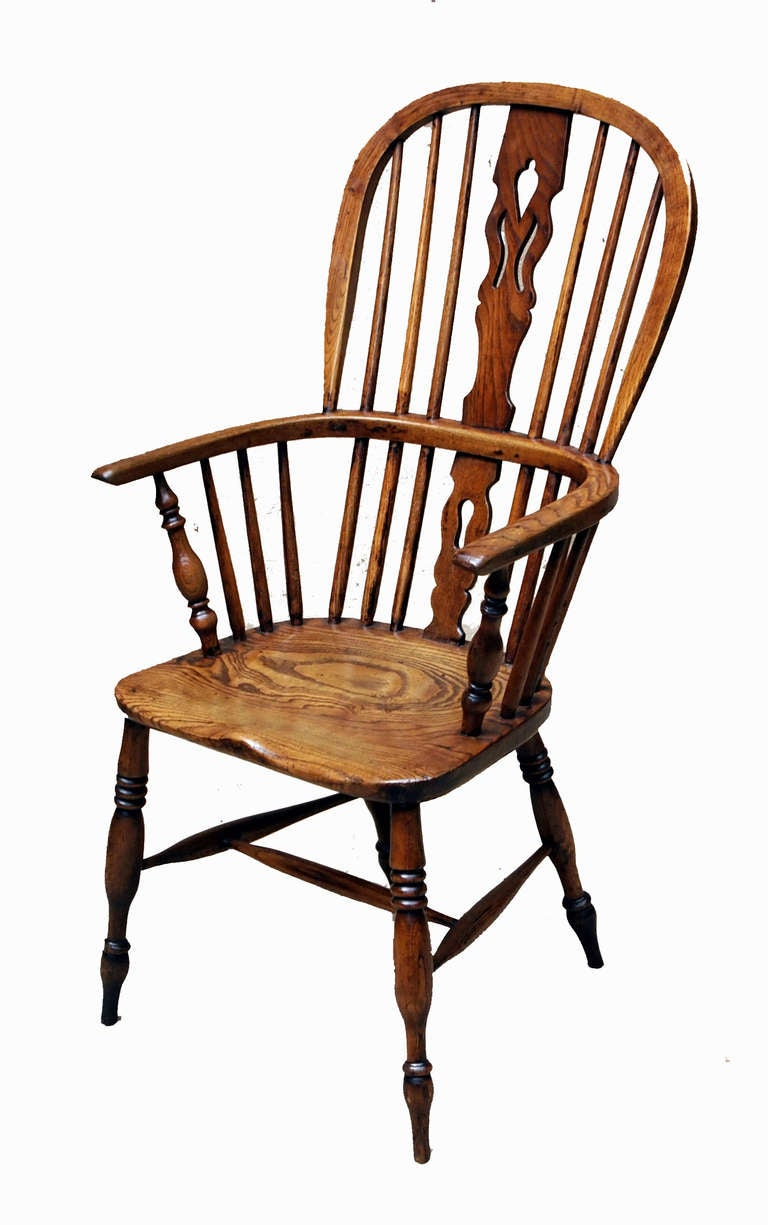 Antique Set Of Eight Ash And Elm Windsor Chairs For Sale At 1stdibs