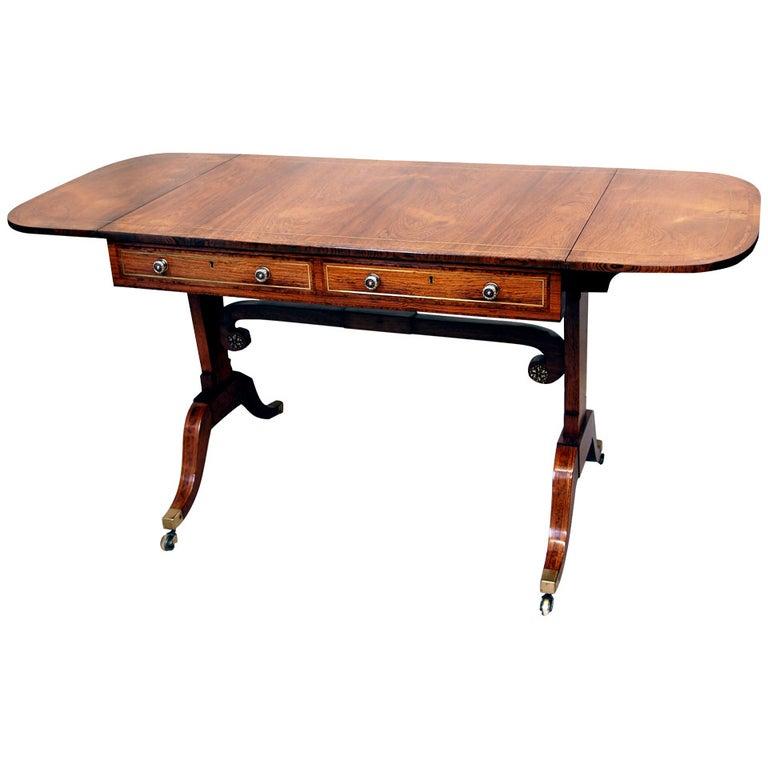English Regency Rosewood Sofa Table