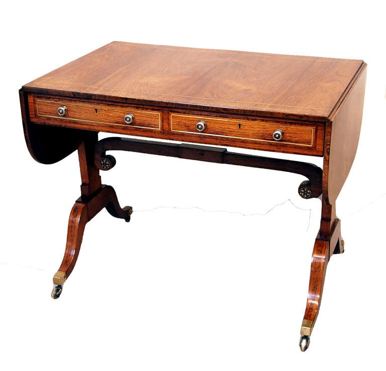 Antique regency rosewood sofa table for sale at 1stdibs for Sofa table sale