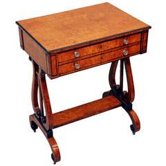 Antique Regency Burr Oak Work Table