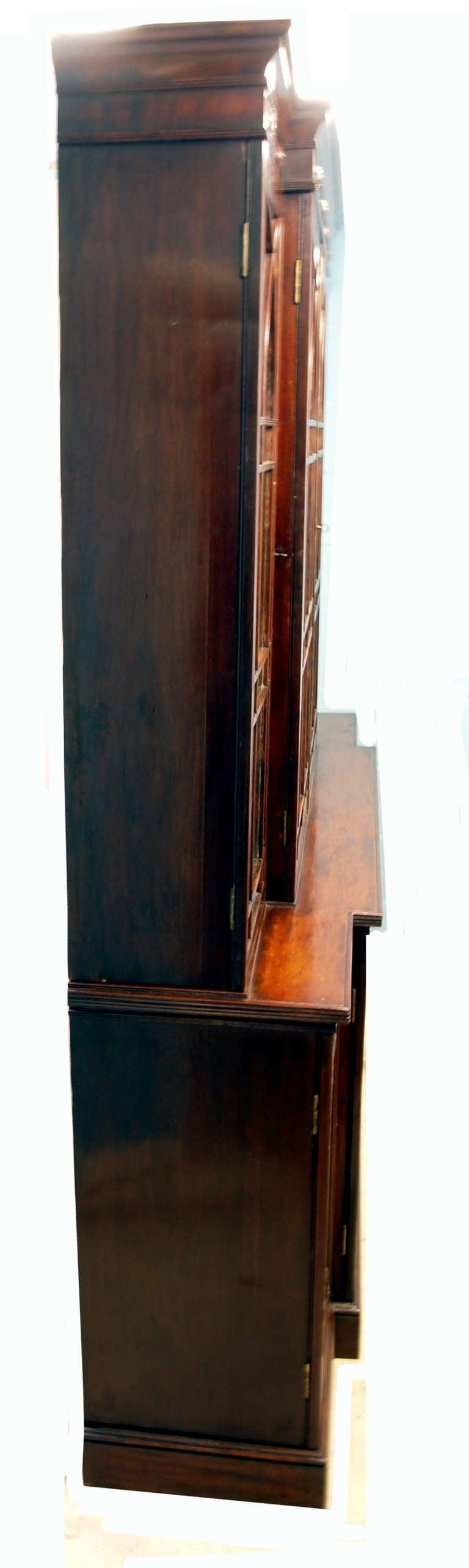 Antique Georgian Mahogany Breakfront Bookcase  3