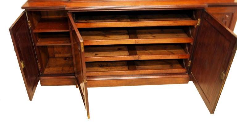 Antique Georgian Mahogany Breakfront Bookcase  4