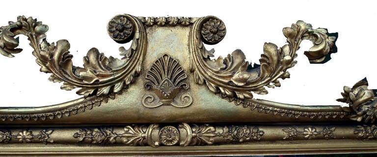 Antique Large Regency Gilt Overmantle Mirror At 1stdibs