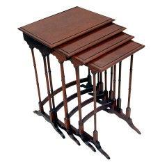 Antique Mahogany Quartetto Nest of Coffee Tables