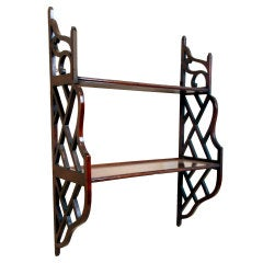 18th Century Chippendale Period Mahogany Wall Hanging Shelves
