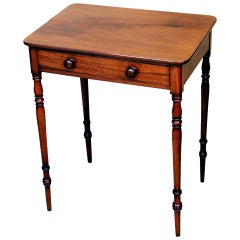 Antique Regency Period Mahogany Side Table