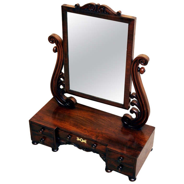 Antique Victorian Dressing Table Mirror For
